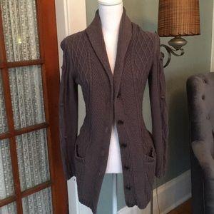 Long grayish brown cardigan